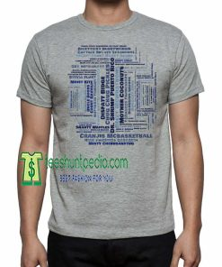 Impractical Jokers Name Game Tru TV Word Cloud Collage T-Shirt Maker cheap