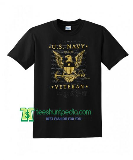 Officially Licensed US Navy Established Veteran Graphic T-Shirt Maker Cheap