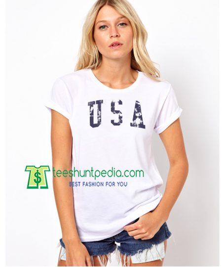 Patriotic Shirt, 4th Of July Raglan, USA American, Distressed Vintage Maker Cheap