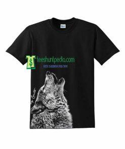 Wolf Unisex Tshirt Howling Wolf Wolves Tshirt Maker cheap