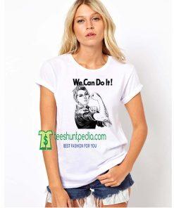 Rosie the Riveter Tshirt We Can Do It Shirt American Apparel Maker cheap