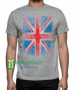 XtraFly Apparel Union Jack Flag T-shirt United Kingdom Maker cheap