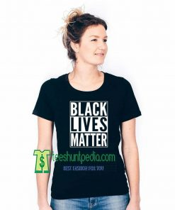 XtraFly Apparel Women's Black Lives Matter White Font BLM Protest Tee Maker cheap