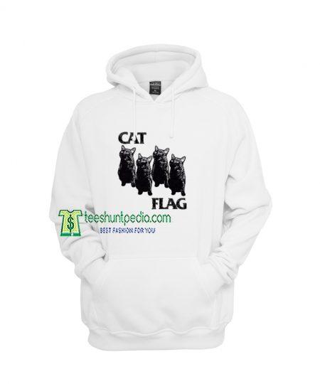 Cat Black Flag Parody Hoodies Women's or Men's Maker cheap