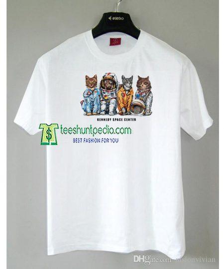 Cat Kennedy Space Center T-Shirt Size XS-2XL Maker cheap