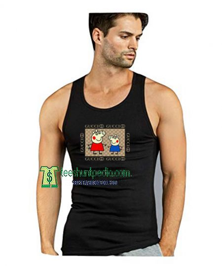 Cool Peppa Pig Gucci Meme Unisex Tank Top Maker cheap