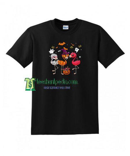 Flamingos Happy Halloween T shirt Size XS-3XL Maker cheap