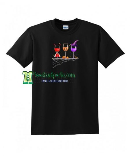 Halloween Glasses Of Wine T shirt Size XS-3XL Maker cheap