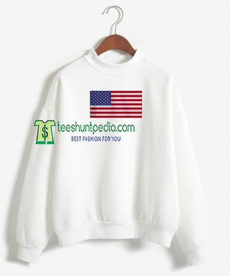 USA Flag Unisex Adult Sweatshirt For Womens Maker cheap