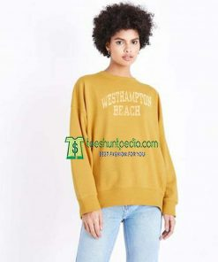 Vintage Westhampton Beach Light Yellow Sweatshirt Maker cheap