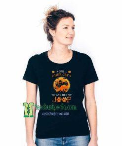 Witch a girl her cat Adult T shirt Size XS-3XL Maker cheap