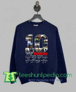 10 Years of 2010 2020 The Walking Dead sweatshirt