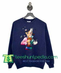 Anime Half Girl Half Warrior Mulan sweatshirt