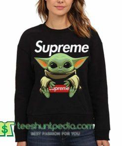 Awesome Baby Yoda hug Supreme sweatshirt