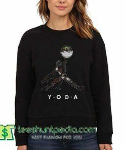Baby Yoda Air Jordan sweatshirt