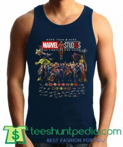 More than a hero Marvel Studios the first ten years signature Tank Top