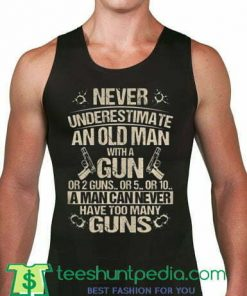 old man with a gun Unisex Tank Top