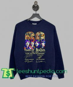 60 years of The Beatles thank you for the memories sweatshirt