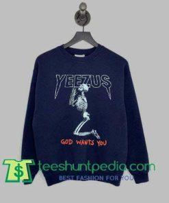 """Yeezus Kanye west """"God wants you"""" women graphic sweatshirt"""