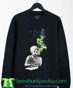 Albert Einstein Smoke Artwork Sweatshirt By Teeshunpedia.com