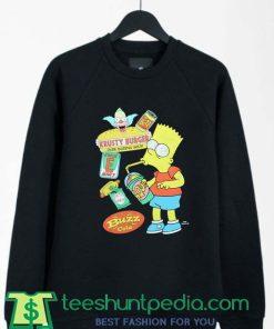 Bart Simpson Krusty Burger The Simpsons Artwork sweatshirt