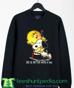 Charlie Brown With Snoopy Loving Each Other Sweatshirt