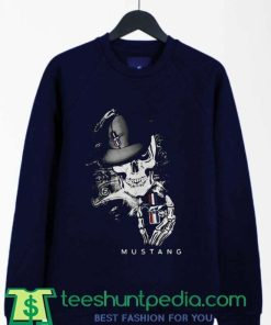 Skeleton Skull Mustang Logo Sweatshirt By Teeshunpedia.com