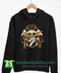 Baby Yoda Native American Hoodie