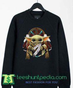 Baby Yoda Native American Sweatshirt By Teeshunpedia.com