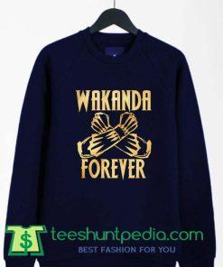 Wakanda Forever Salute Gold Shirt Black Panther Sweatshirt