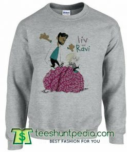 Liv and Ravi A Calvin and Hobbes Zombie sweatshirt