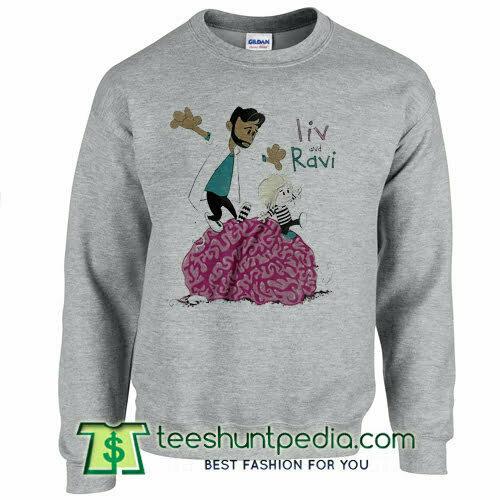 Liv and Ravi A Calvin and Hobbes Zombie sweatshirt